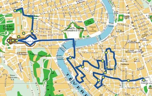 Экскурсионный маршрут по Риму.